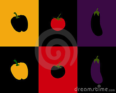Pepper, tomato and eggplant