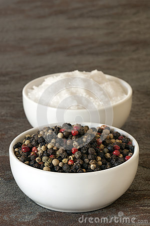 Peppercorns and Sea Salt