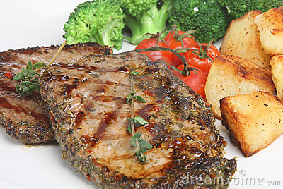 Peppered Steak Meal