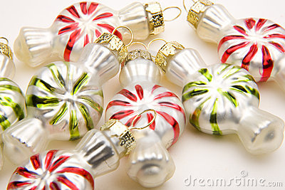 Peppermint Shaped Christmas Ornaments
