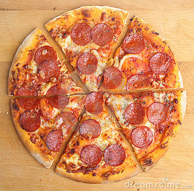Free Pepperoni Pizza Slices Stock Image - 9435361