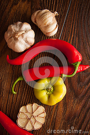 Free Peppers&garlic Royalty Free Stock Image - 77023756