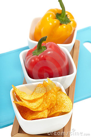 Peppers with Paprika Chips