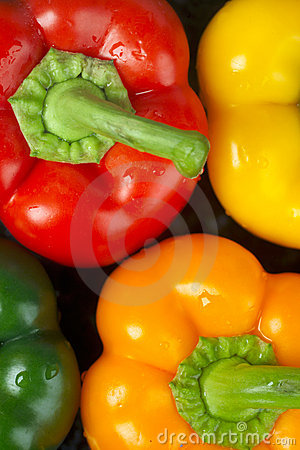 Free Peppers, Red Yellow Green And Orange Royalty Free Stock Photo - 1208995