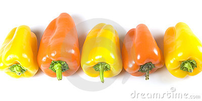 Peppers in a row