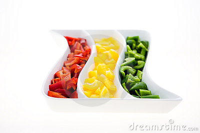 Peppers in the saucer