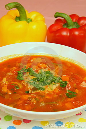 Free Peppers Soup Royalty Free Stock Photos - 7532788