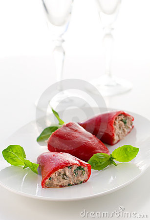 Peppers stuffed with tuna