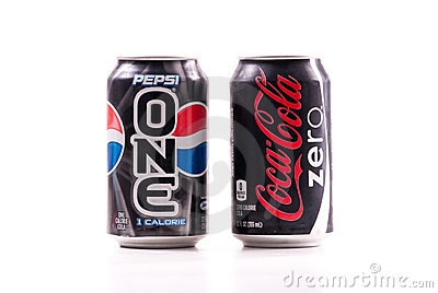 Pepsi One Versus Coke Zero Editorial Image