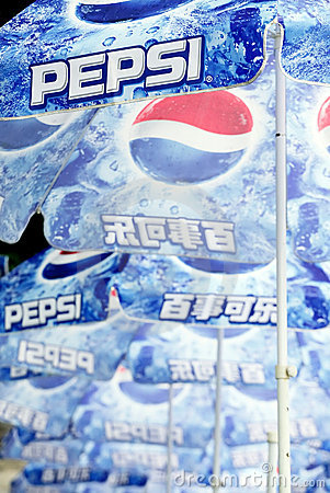 Pepsi umbrellas Editorial Stock Photo