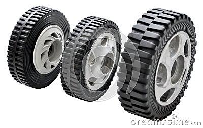 Pequeñas ruedas