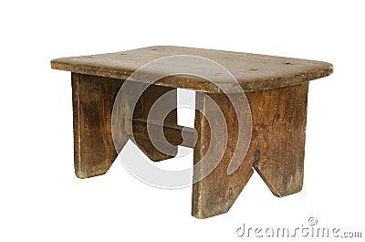 Peque o banco de madera viejo aislado - Imagenes de bancos de madera ...
