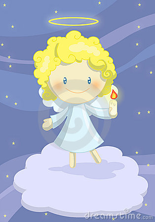 Pequeño muchacho lindo del ángel
