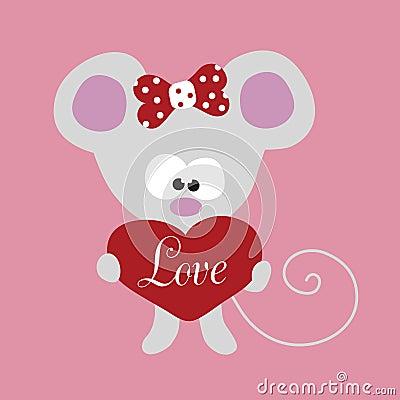 Pequeño ratón con el corazón grande