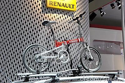 Pequeña bicicleta del deporte de Renault Foto de archivo editorial