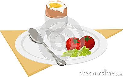 Pequeno almoço. vetor