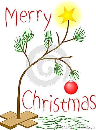 Pequeño árbol de navidad triste