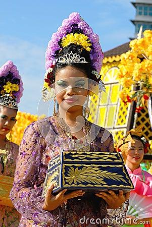 Perak Traditional Costumes Editorial Photo