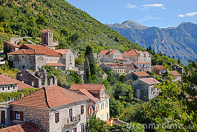 Perast city view