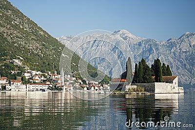 Perast in kotor bay montenegro
