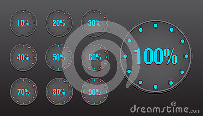 Percent Circle Buttons
