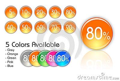 Percent icons