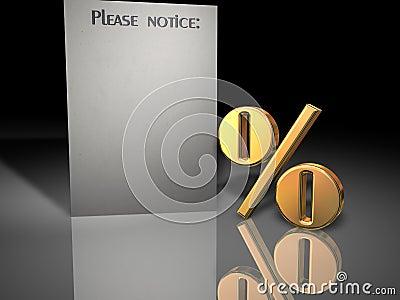 Percent notice