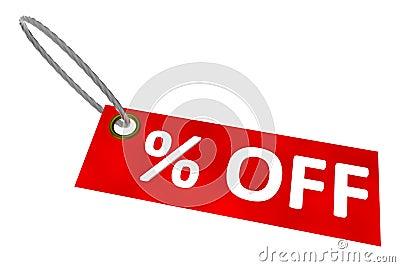 Percent Off Tag
