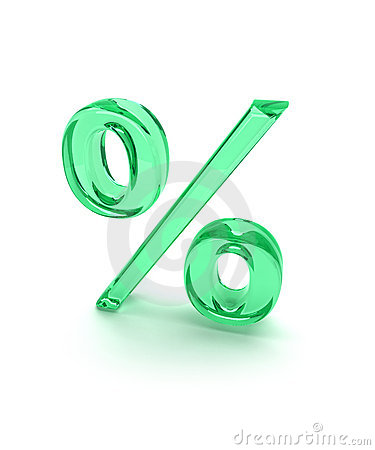 Percent sign green 1
