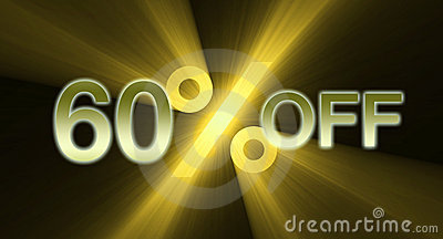 Percentage off discount sale banner