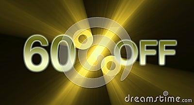 60 percentage off discount sale banner