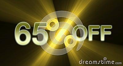 65 percentage off discount sale banner
