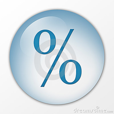 Percentage, percent, con, web button, board, hoarding, push button, switch, symbol, sign, logo