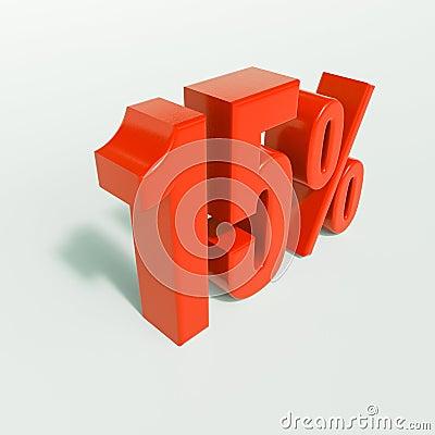 Free Percentage Sign, 15 Percent Stock Photos - 84264953
