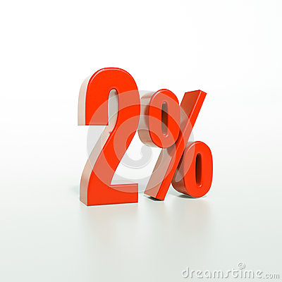 Free Percentage Sign, 2 Percent Royalty Free Stock Photography - 84266807