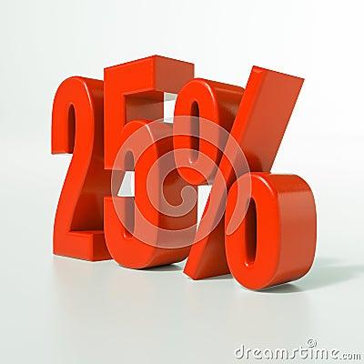 Free Percentage Sign, 25 Percent Stock Image - 84264971