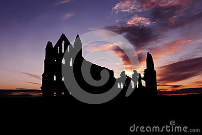 Whitby Abbey on Sunset