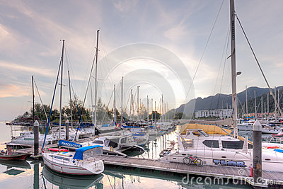 Perdana Quay, Telaga Harbour, Langkawi, Malaysia Editorial Photo