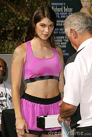 Perfect 10 Magazine Boxing Match Weigh-In Editorial Stock Photo