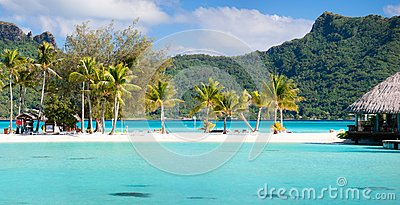 Perfect beach on Bora Bora