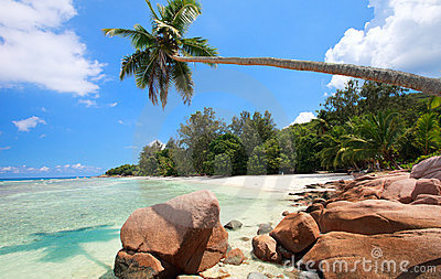 Perfect beach in Seychelles