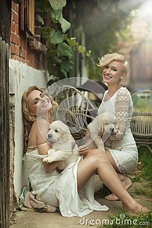 Perfect blonde beauties