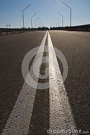 Perfect empty highway
