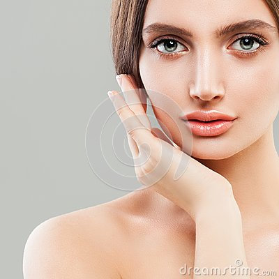 Free Perfect Female Face Closeup. Healthy Woman. Stock Image - 107362481