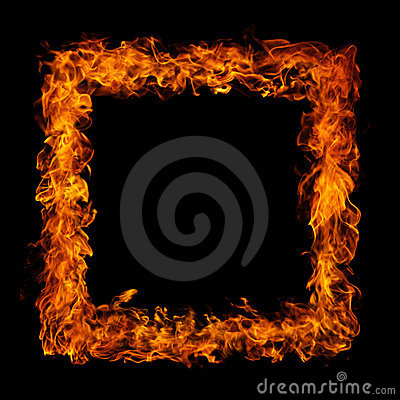 Perfect fire on black background
