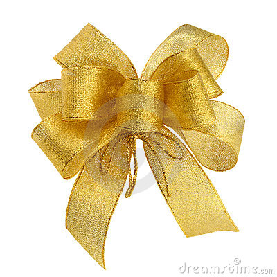 Perfect golden bow