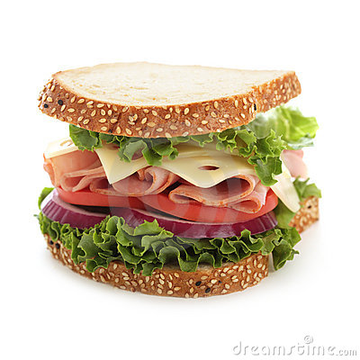 Free Perfect Ham And Cheese Sandwich Stock Image - 15597821