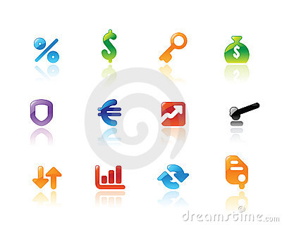 Perfect icons for business and finance