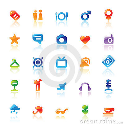 Free Perfect Icons For Travel Stock Photos - 13684703