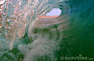 Perfect Ocean Surfing Wave